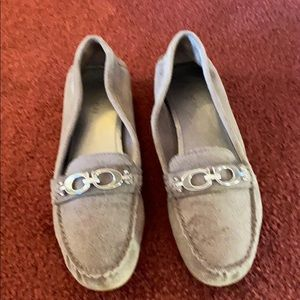 coach  grey loafers